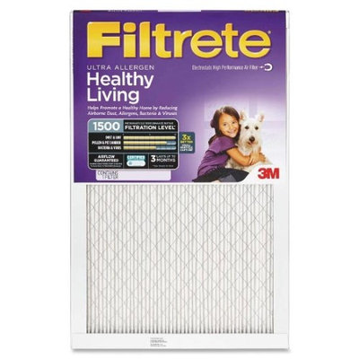 24x30x1 (23.7 x 29.7) Ultra Allergen Reduction 1500 Filter by 3M (2 Pack)