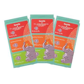 SpaLife Tell Your Blackheads to Stop Being So Nosy! - 3 Step Nose Treatment - 3 Pack