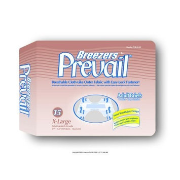 Breezers by Prevail Adult Briefs, Prevail Adl Brfs Brthbl Xlg, (1 CASE, 60 EACH)