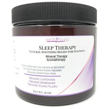 SLEEP THERAPY 100% Pure Authentic Dead Sea Spa Bath Salts / Natural, Soothing Relief For Insomnia / Organic Essential Oils of Lavender, Rosemary and Ylang Ylang - 16 oz