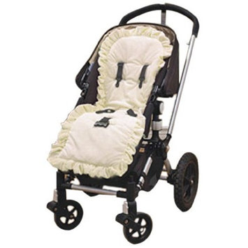 Baby Doll Bedding Heavenly Soft Minky Stroller Covers, Ivory