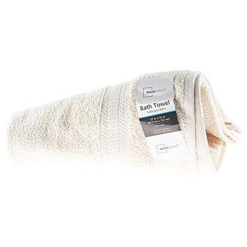 Mainstays Basic Bath Towel, Vanilla Dream
