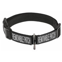 Dogline N0412-1 Omega Nylon Collar With Space For Removable Patches Black - 1 x 20-26 in.