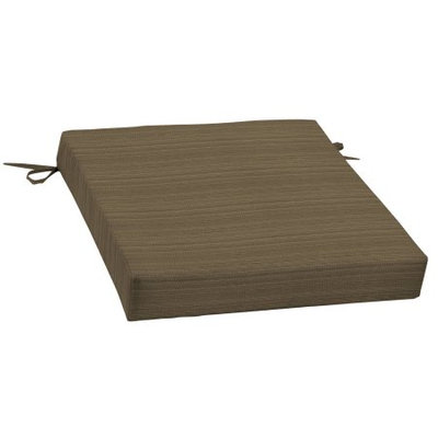 Arden Companies Better Homes and Gardens Outdoor Patio Dining Seat Cushion, Tan Stria