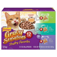 Purina Friskies Gravy Sensations Poultry Favorites Cat Food Variety Pack 12-3 oz. Pouches