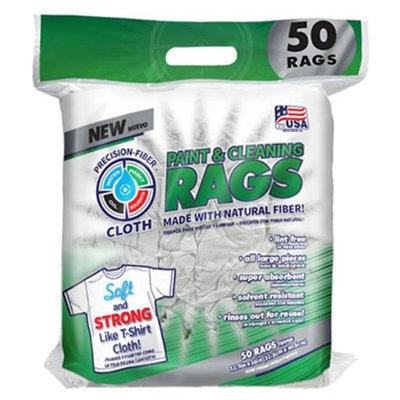Intex Supply 222039 50 Count White Fiber Rags