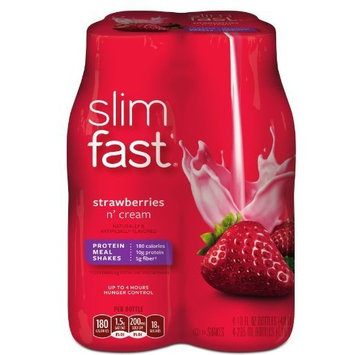 SlimFast Strawberries and Cream Ready To Drink Shakes, 4 Count