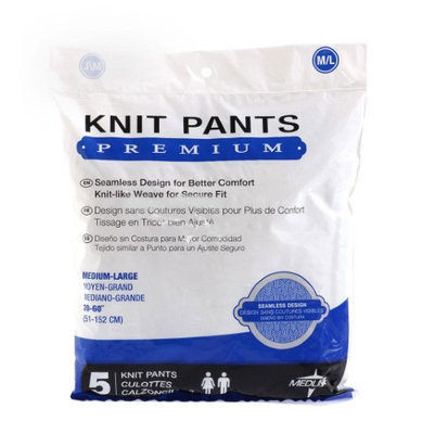 Medline Premium Knit Incontinence Underpants, Medium/Large