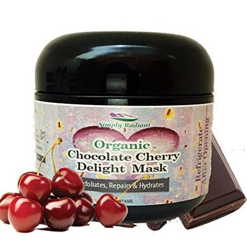 Organic Chocolate Cherry Delight Facial Mask - Helps even skin tone and make your skin soft, smooth and firm with a radiant complexion 2oz.