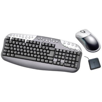 Linkworld 104 Key Wireless Keyboard w/Optical Mouse (Black/Silver)