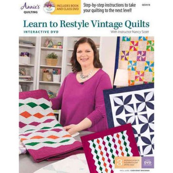 Annie's Learn To Restyle Vintage Quilts Pattern Book With Interactive Dvd: With Instructor Nancy Scott