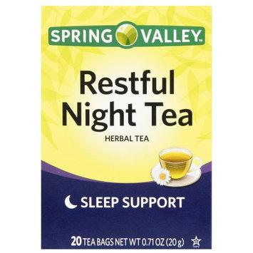 Spring Valley Restful Night Tea Herbal Tea, 20 Count