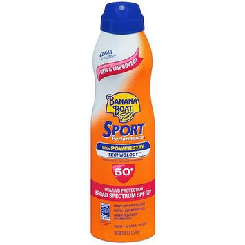 Banana Boat UltraMist Sport Performance Continuous Spray Sunscreen, SPF 50+ 6.0 oz.(pack of 4)