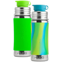 Pura Sport Stainless Steel Bottle, 11 Ounce, Set of 2, Green