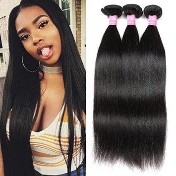 Mink Hair 8A Straight Hair Bundles (10 12 14) Unprocessed Brazilian Straight Hair Weave Human Hair Bundles Natural Color