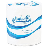 Windsoft 2200 Single Roll Two Ply Premium Bath Tissue, 500 Sheets Per Roll (Case of 96 Rolls)