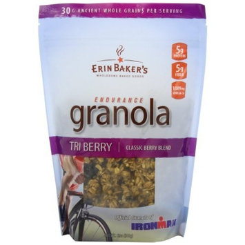 Erin Baker's Ultra Protein Granola, Tri Berry, Mixed Berries, Gluten-Free, Vegan, Non-GMO, Cereal, 12-ounce bag [Endurance Tri Berry]