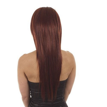 Long Straight Half Wig Hairpiece | Add Extra Length | Hair Extensions | Colour: Deep Red