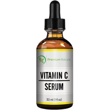 Vitamin C Serum20% Vitamin C Super Strength with Hyaluronic Acid for Skin, Face and Body, Anti Aging, Hydrating and Skin Repair 1 Oz By Premium Nature
