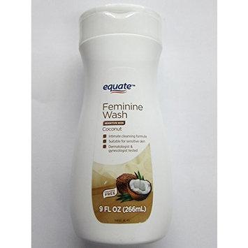Equate Feminine Wash Sensitive Skin, Coconut, 9 fl oz (Pack of 2)