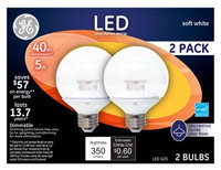 GE Lightbulbs 40W Equivalent Clear G25 Globe Dimmable LED Light Bulb (2-Pack) LED5DG25-C3/TP2P