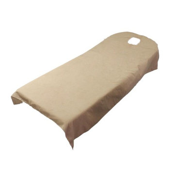 Homyl Beauty Massage SPA Treatment Soft Polyester Bed Table Cover Sheets Resuable - Camel