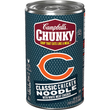 Campbell's Chunky Classic Chicken Noodle Soup Featuring the Chicago Bears, 18.6 oz (4 Packs)