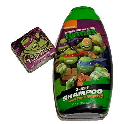 Turtle Power Punch 2 in 1 Conditioning Shampoo and Magic Washcloth TMNT Teenage Mutant Ninja Turtles