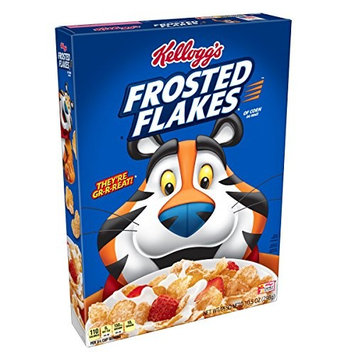 Frosted Flakes Kellogg's Breakfast Cereal, Fat-Free, 10.5 oz Box(Pack of 14)