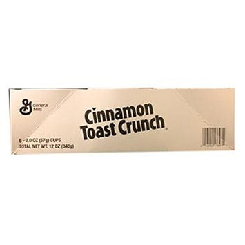 General Mills Cereal Cinnamon Toast Crunch - Cup, 6 Count (CEREALS)