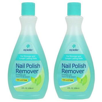 Epielle Nail Polish Remover Non Acetone 8oz (2 pack)