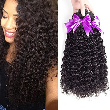 Malaysian Curly Virgin Hair Only One Bundle 100% 8A Unprocessed Malaysian Sexy Deep Curly Weave Human Hair Extensions Natural Color (18'')
