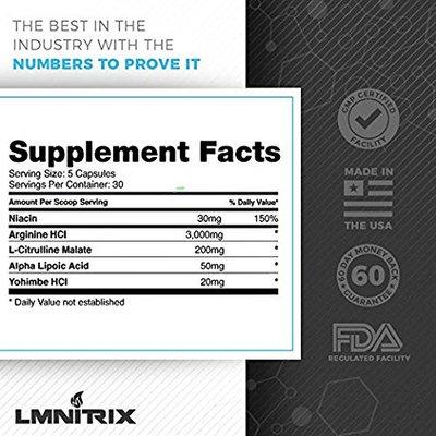 VEINZ Pills - Best Nitric Oxide Booster w/Yohimbe, L-Arginine and L-Citrulline- Top Muscle Mass & Pump Supplement - 150 Capsules [Watermelon]