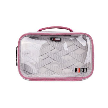 Travel Packing Organizer, BUBM Lightweight Nylon Clear Organizer Bag for Makeup, Toiletries, Electronic Accessories and Women Men Personal Items