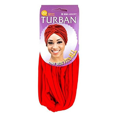 (PACK OF 6) QFITT TURBAN ONE SIZE FITS ALL #BLACK: Beauty
