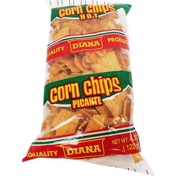 Prodiana Corn Chips Hot Snack 4.30 oz - Picante (Pack of 18)
