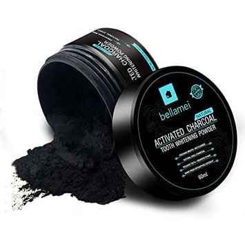Bellamei All Natural Activated Coconut Charcoal Teeth Whitening Powder Gently Removes Tabaco, Coffee and Tea Stains - Mint Flavor [Mint Flavor]
