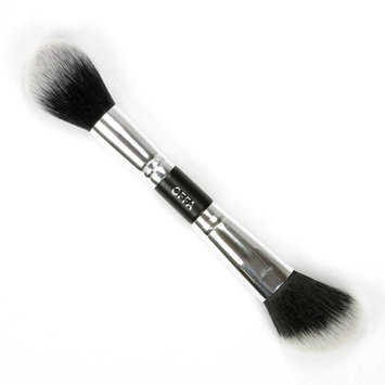 OFFA Beauty - Duet Powder & Angled Multi Face Brush. Professional Cosmetic Makeup Brush, Cruelty Free, Vegan, Ultra Soft Finish