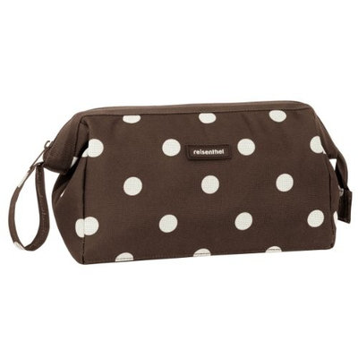 Reisenthel Travelcosmetic, Beautycase, Wash Bag Travel Bath for Cosmetic/Make Up One-size A pois marroni