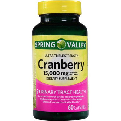 Spring Valley Triple Strength Cranberry 15000mg, 60 ct