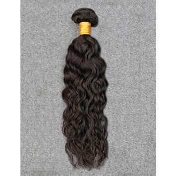 Vinsteen 8''-30'' Silky Water Wave Brazilian Virgin Human Hair Double Weft 1 Bundle Weave Hair Extensions Natural Color 100g/bundle