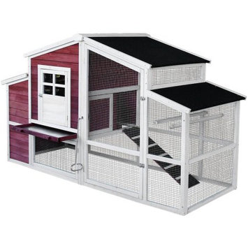 Merax Wooden Waterproof Chicken Coop Backyard Nest Box Wood Hen House Poultry Cage Hutch Pet Cage for Small Animals, Box 3 of 3