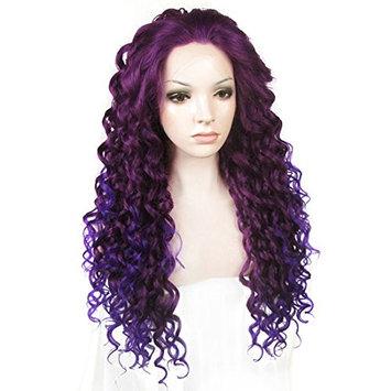 Ebingoo Women's Lace Front Wig Purple Ombre Synthetic Curly Wigs N18 3700