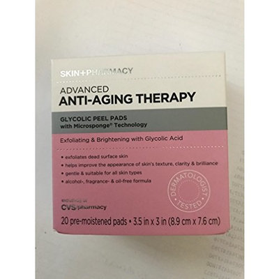 Skin Pharmacy Advanced Anti-Aging Therapy Glycolic Peel Pads 20 Count