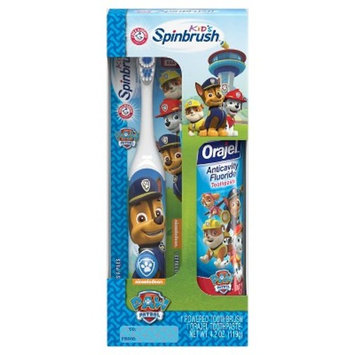 Paw Patrol Spinbrush Toothbrush And Paste Combo Pack