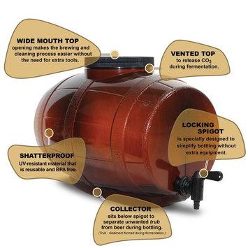 Mr. Beer 40-20941-00 American Lager Craft Beer Making Kit