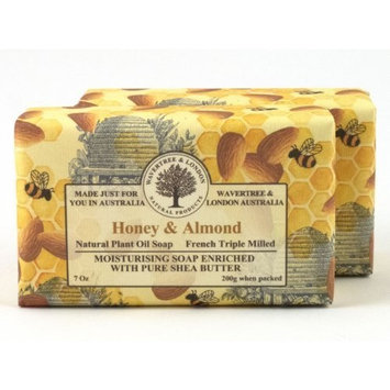Wavertree & London Honey and Almond luxury soap (1 bar) by Australian Natural Soap