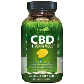 CBD + Sunny Mood (75 Liquid Soft-Gels) by Irwin Naturals at the Vitamin Shoppe