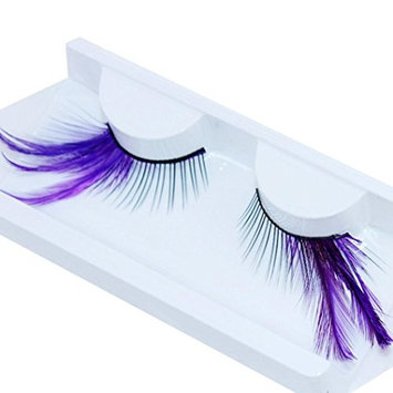Aurorax Women NEW Exaggerated Drama Stage Dressing Party Feathers False Eyelashes