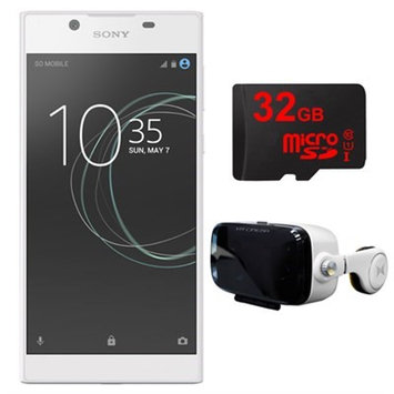 Sony Xperia L1 16GB 5.5-inch Smartphone, Unlocked (White) w/ VR Accessory Bundle